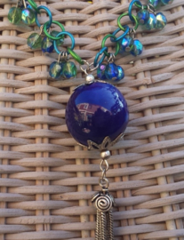 Chainmail ketting in blauw/groen