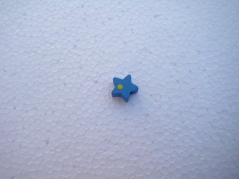 Houten sterretje - blauw