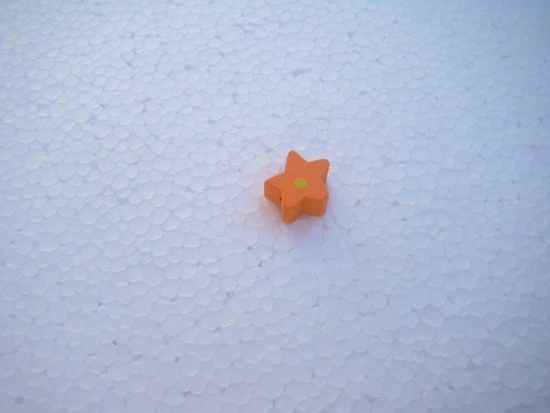 Houten sterretje - oranje