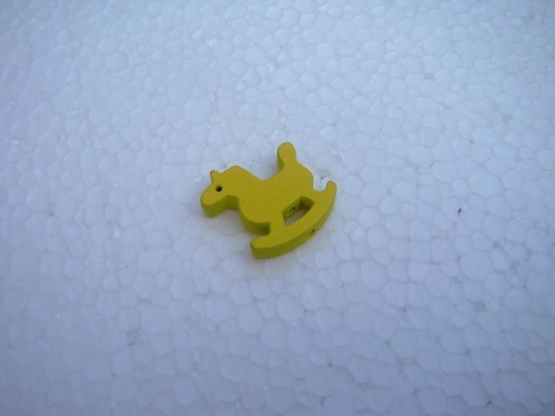 Houten Hobbelpaardje - geel