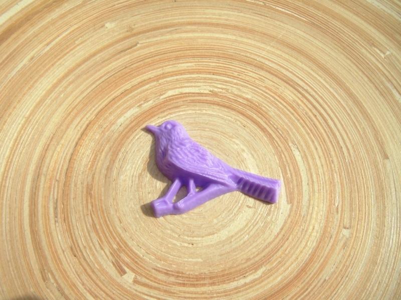 Cabochon Retro vogel lila