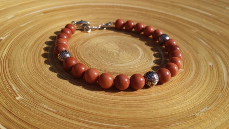 Heren armband van rode Jaspis
