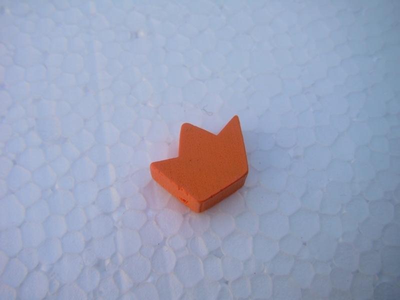 Houten kroontje - oranje