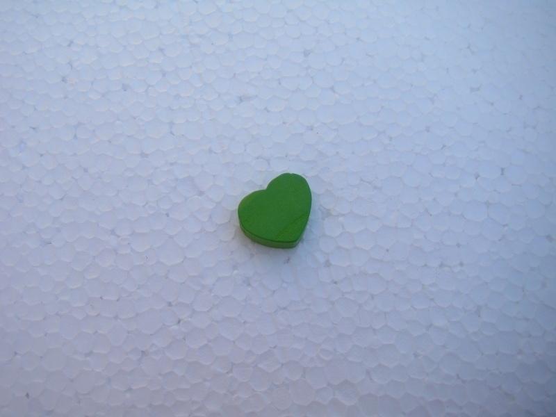 Houten hartje - groen