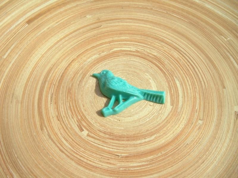 Cabochon Retro vogel turquoise