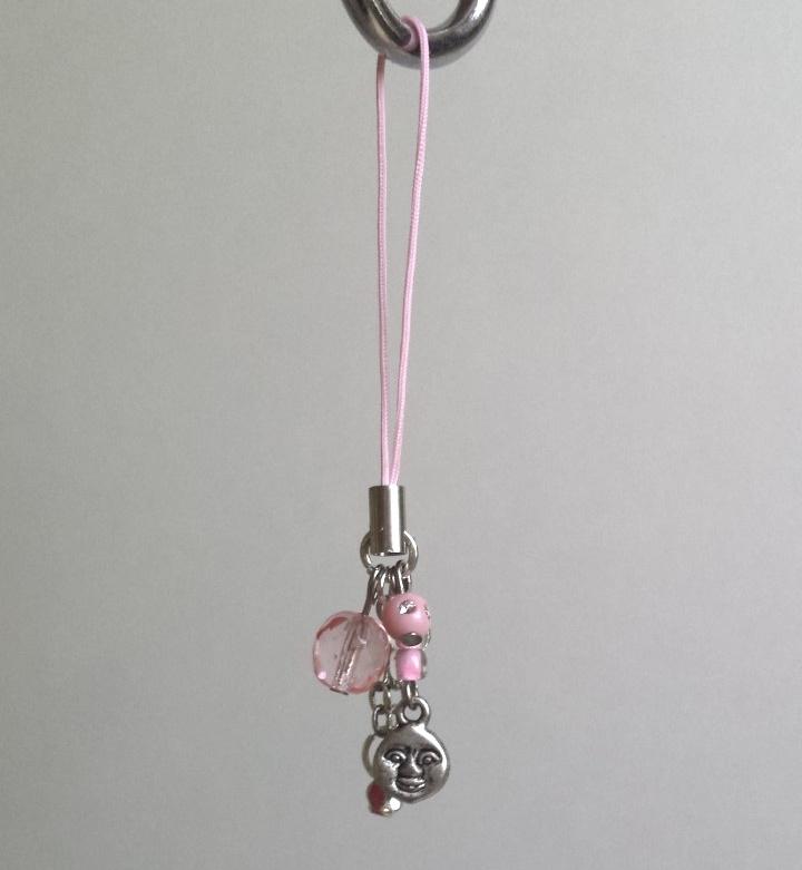 Mobielhangertje/wenshangertje roze