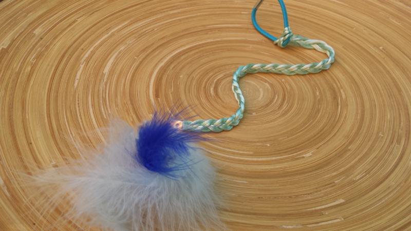 Lichtblauw Ibiza-Style haarbandje