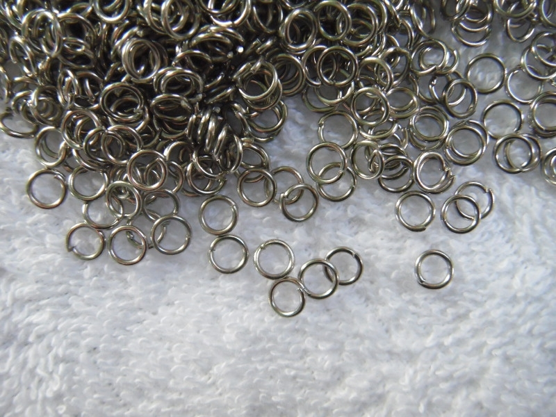 100 open ringetjes in oud zilverlook