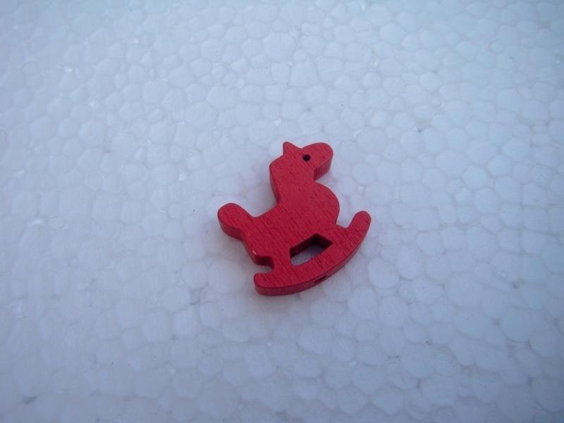 Houten Hobbelpaardje - rood