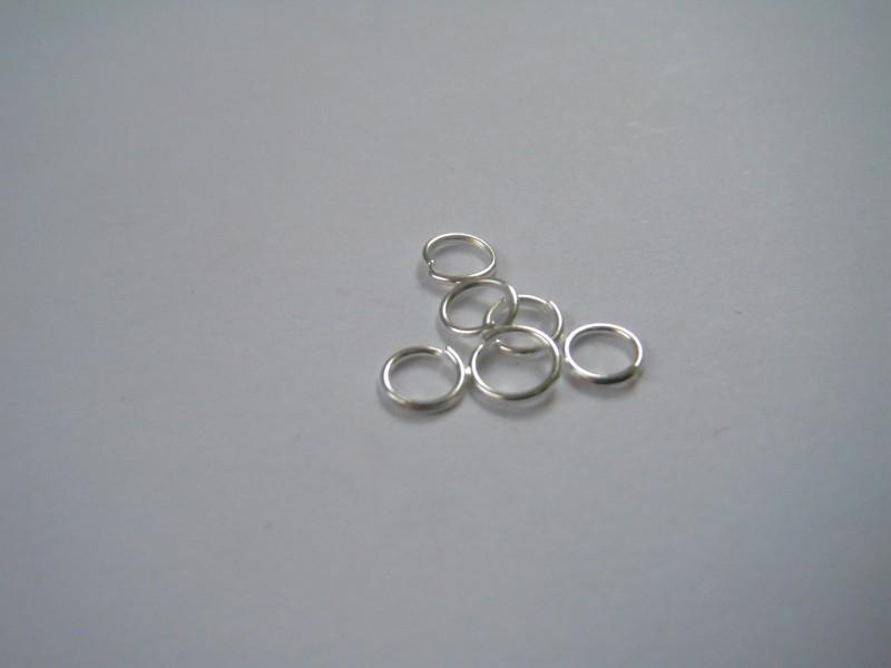 100 zilverplated open ringetjes 5mm
