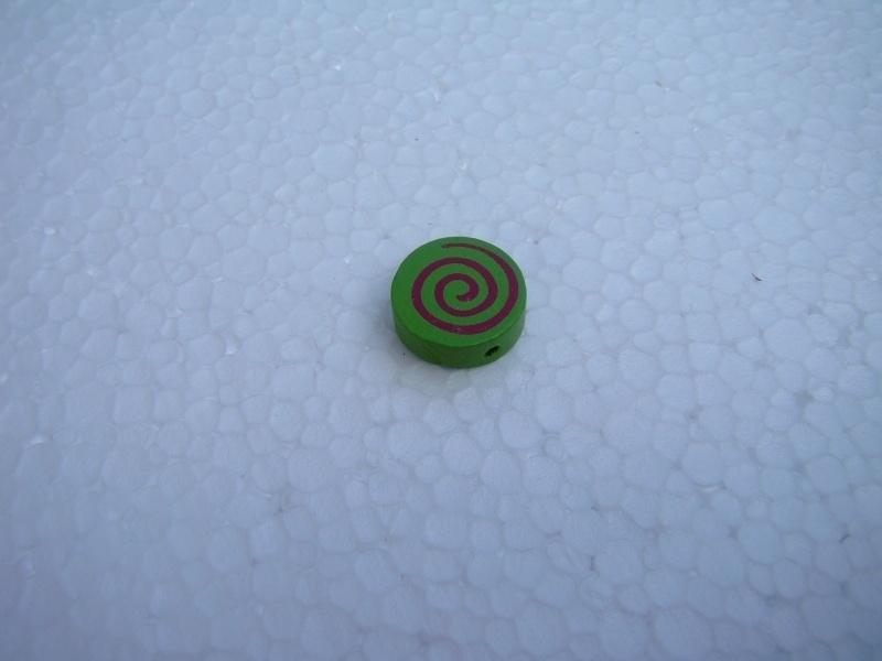 Houten schijf-kraal groen