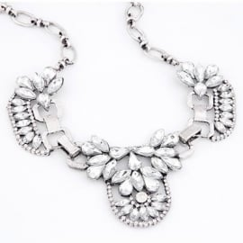"Statement Ketting ""Ice Flower"""