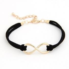 "Infinity Armband ""Gold & Black Infinity"""
