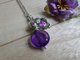 "Vintage Ketting ""Purple Butterfly"""