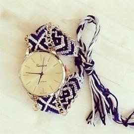 """Horloge """"Festival"""" Zwart / Wit / Grijs"""