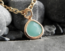 "Ketting ""Tiny Mint Stone"""