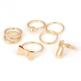 "Knuckle Ringen Set ""Golden Knuckles"""