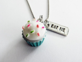 "Ketting ""I Eat Blue Cupcakes"""