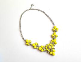 "Statement Ketting ""Yellow Flower"" Geel"