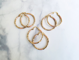 "Oorringen ""Pretty Pastel Hoops"" Goud"