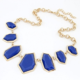 "Statement Ketting ""Multistones Blue"""