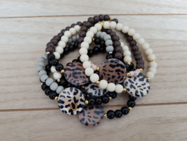 "Schelp Armband Met Luipaardprintje ""Leopard Shell"""