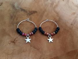 """Oorbellen """"Stars & Beads"""" Zilver"""