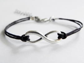 Infinity Armband -  Donkerbruin