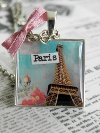 "Eiffeltoren Ketting ""C`est La Vie"""