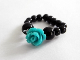 "Ring ""Sea Blue Rose"""