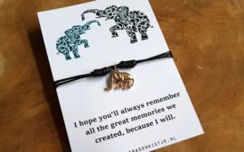 """Wish Armband """"Black Elephant"""""""