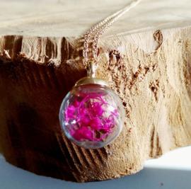 """Bloemen Ketting """"Flower In A Globe"""""""