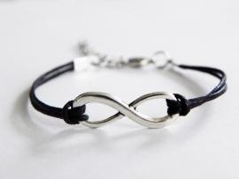 Infinity Armband - Zwart