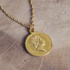 "Subtiele Munt Ketting ""A Penny For Your Thoughts"""