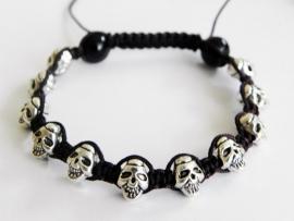 """Armband """"Burgundy Skulls"""""""