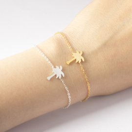 """Palmboom Armband """"Tropical Summer"""" Goud"""