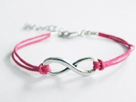 Infinity Armband - Donkerroze