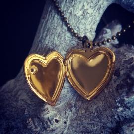 """Medaillon Ketting """"Gold Heart Locket"""""""