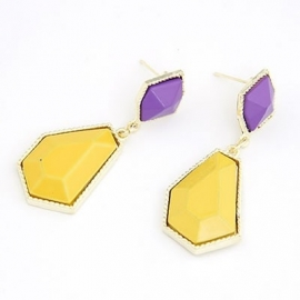 "Statement Oorbellen ""Purple & Yellow"""