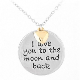 """Tekst Ketting """"I Love You To The Moon And Back"""""""