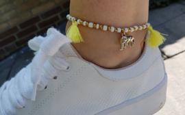 """Enkelbandje """"Yellow Elephant"""""""