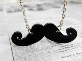 "Snor Ketting ""Curly Mustache"""