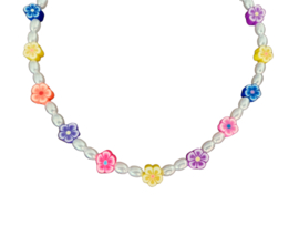 """Parel Ketting """"Flowers, Pearls and Pretty Girls"""""""
