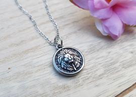"Leeuwen Ketting ""Lion Coin"" Zilver"
