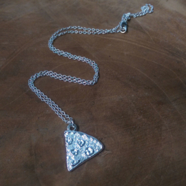 "Ketting ""Pizza Slice"" Silver Plated"