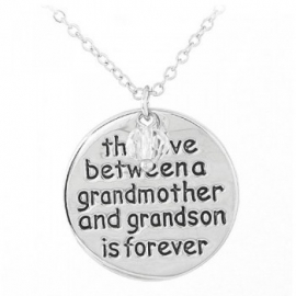 "Tekst Ketting ""Grandmother and Grandson"""