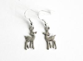"""Hert oorbellen """"Silver Deer"""""""