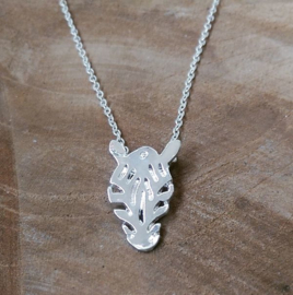 "Ketting ""Zebra"" Silver Plated"