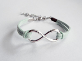 "Infinity Armband ""Silver & Mint Infinity"""