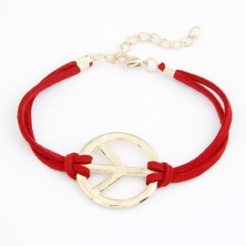 "Armband ""Golden Peace"" Rood"